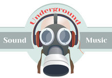 Logotipo da máscara de gás Fotografia de Stock Royalty Free