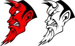 Logotipo da mascote do diabo Fotografia de Stock