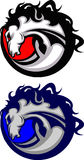 Logotipo da mascote do mustang/bronco Imagens de Stock