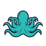 Logotipo da mascote do polvo Fotografia de Stock Royalty Free