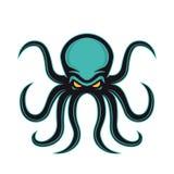 Logotipo da mascote do polvo Fotos de Stock Royalty Free