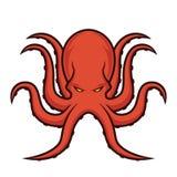 Logotipo da mascote do polvo Imagem de Stock