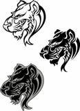 Logotipo da mascote do puma da pantera Fotografia de Stock