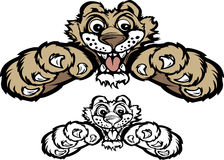 Logotipo da mascote do puma/pantera
