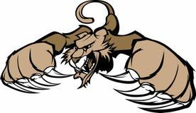Logotipo da mascote do puma/puma Foto de Stock Royalty Free