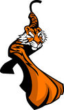 Logotipo da mascote do tigre Imagem de Stock Royalty Free