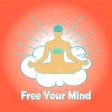 Logotipo da meditação Imagens de Stock