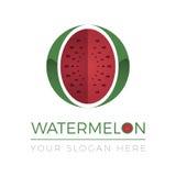 Logotipo da melancia ilustração royalty free