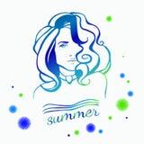 Logotipo da menina da beleza Imagens de Stock