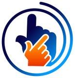Logotipo da mão Fotografia de Stock