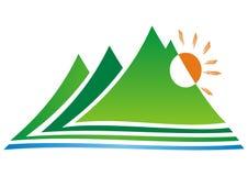 Logotipo da montanha Fotografia de Stock Royalty Free