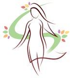 Logotipo da mulher Imagem de Stock
