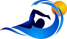 Logotipo da natação Fotografia de Stock Royalty Free