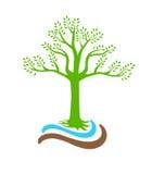 Logotipo da natureza da árvore Fotos de Stock