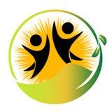 Logotipo da natureza da equipe Fotografia de Stock