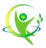 Logotipo da natureza da saúde ilustração do vetor