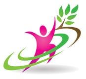 Logotipo da natureza da saúde Fotos de Stock Royalty Free