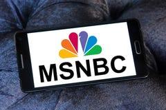 Logotipo da notícia de Msnbc imagens de stock royalty free