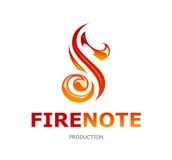 Logotipo da nota do fogo Fotos de Stock Royalty Free