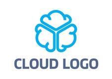 Logotipo da nuvem Imagens de Stock Royalty Free
