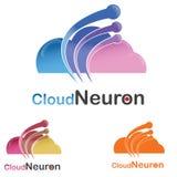 Logotipo da nuvem da tecnologia Fotografia de Stock Royalty Free