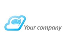 Logotipo da nuvem do gato Imagem de Stock