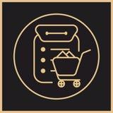 Logotipo da obtenção como parte do sistema de gestão da fonte ilustração royalty free