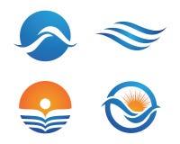Logotipo da onda da praia do oceano ilustração stock