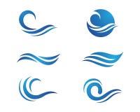 Logotipo da onda da praia do oceano Foto de Stock Royalty Free