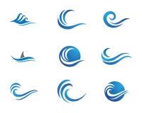 Logotipo da onda da praia do oceano ilustração royalty free