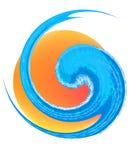 Logotipo da onda e do sol Fotos de Stock Royalty Free
