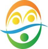 Logotipo da parceria ilustração stock