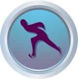 Logotipo da patinagem de velocidade Fotografia de Stock