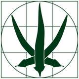 Logotipo da pimenta de pimentão imagem de stock