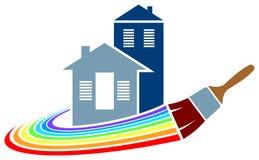 Logotipo da pintura de casa Imagem de Stock Royalty Free