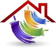 logotipo da pintura de casa Imagens de Stock