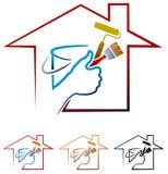 logotipo da pintura de casa Fotografia de Stock Royalty Free