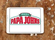 Logotipo da pizza de johns da papá Fotos de Stock