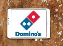 Logotipo da pizza dos dominós Imagens de Stock