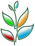 Logotipo da planta Fotografia de Stock Royalty Free
