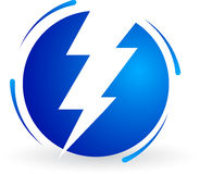 Logotipo da potência Foto de Stock Royalty Free