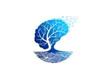 Logotipo da psicologia da árvore ilustração royalty free