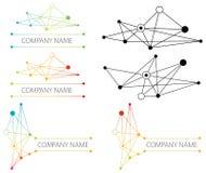 Logotipo da rede da conexão Fotografia de Stock