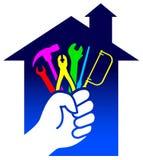 Logotipo da renovação da casa Fotografia de Stock