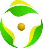 Logotipo da rotação da folha ilustração do vetor
