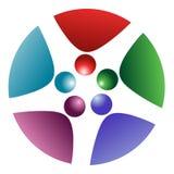Logotipo da rotação dos povos ilustração do vetor