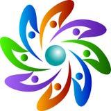 Logotipo da rotação dos povos ilustração royalty free