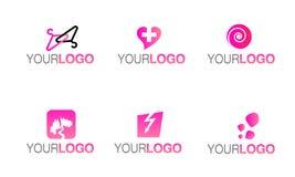 Logotipo da roupa de forma do vetor ilustração stock