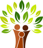 Logotipo da árvore de família Imagens de Stock