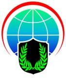 Logotipo da segurança do Glob Fotos de Stock